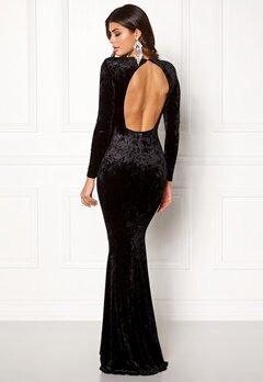 Chiara Forthi Editta Velvet Gown Black Bubbleroom.eu