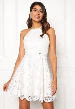 Chiara Forthi Elaine lazer cut dress White Bubbleroom.eu