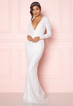 Chiara Forthi Evita embellished dress White Bubbleroom.eu