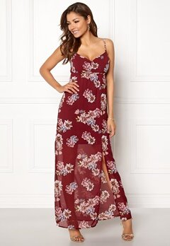 Chiara Forthi Fabienne Dress Wine-red / Floral Bubbleroom.eu