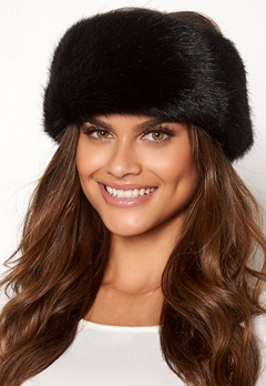 Chiara Forthi Faenza fur head band Black Bubbleroom.eu