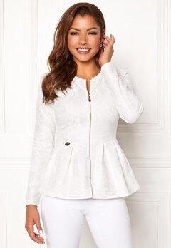 Chiara Forthi Fiona peplum jacket White Bubbleroom.eu