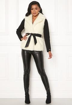 Chiara Forthi Florence Faux Fur Waistcoat Offwhite Bubbleroom.eu