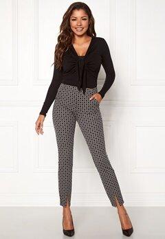 Chiara Forthi Franka jersey sleek pants Beige / Black / Offwhite Bubbleroom.eu