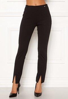Chiara Forthi Franka jersey sleek pants Black Bubbleroom.eu