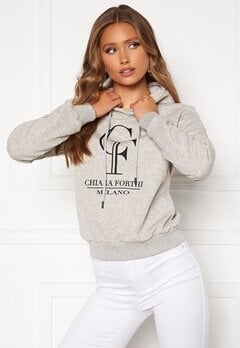 Chiara Forthi Gabriella logo hoody Grey melange Bubbleroom.eu