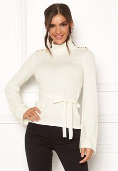 Chiara Forthi Gaby fine knitted tie sweater Offwhite Bubbleroom.eu