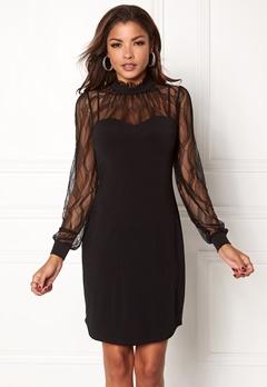 Chiara Forthi Hillie Highneck Dress Black Bubbleroom.eu