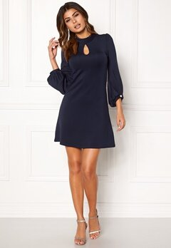 Chiara Forthi Intrend Balloon Sleeve Dress Dark blue Bubbleroom.eu