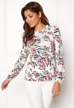 Chiara Forthi Intrend Tulip Top Winter white / Floral Bubbleroom.eu