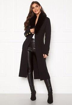 Chiara Forthi Ivy knitted Long Coat Black Bubbleroom.eu