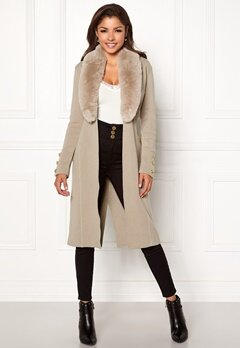 Chiara Forthi Ivy Long Coat Grey-beige Bubbleroom.eu