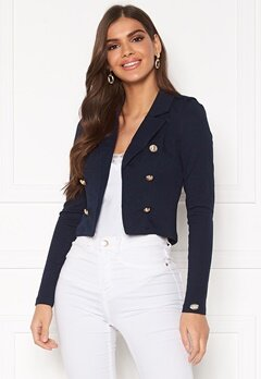 Chiara Forthi Jemma button jersey jacket Navy Bubbleroom.eu