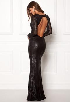 Chiara Forthi Julienne gown Black Bubbleroom.eu