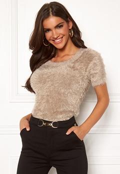 Chiara Forthi Juliette furry sweater Beige Bubbleroom.eu
