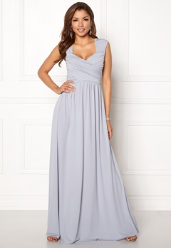 Chiara Forthi Kirily Maxi Dress Light grey Bubbleroom.eu