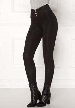 Chiara Forthi Lace button leggings Black Bubbleroom.eu