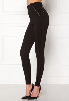 Chiara Forthi Lace-Up Pants Black Bubbleroom.eu