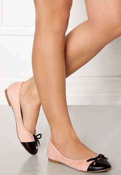 Chiara Forthi Lauren ballerina shoes Light pink / Black Bubbleroom.eu