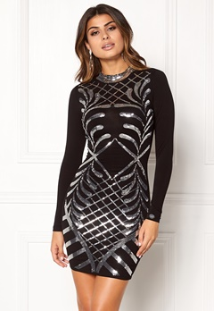 Chiara Forthi Lavinia Sequin Dress Black / Silver Bubbleroom.eu