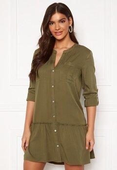 Chiara Forthi Lemonie Shirt Dress Khaki green Bubbleroom.eu