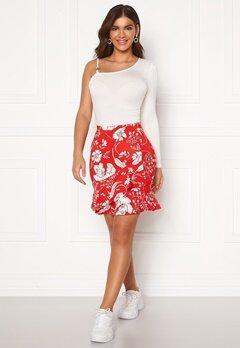 Chiara Forthi Lily flounce skirt Red / White Bubbleroom.eu