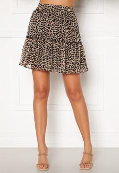 Chiara Forthi Lorenza mini skirt Leopard Bubbleroom.eu