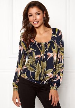 Chiara Forthi Luiza Top Darkblue/green/patterned Bubbleroom.eu