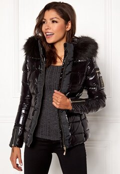 Chiara Forthi Madesimo Highgloss Down Jacket Black Bubbleroom.eu