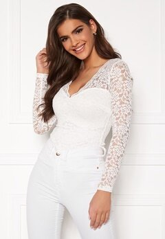 Chiara Forthi Margeaux lace top White Bubbleroom.eu