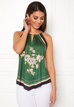 Chiara Forthi Marienela scarfs halterneck Black / Green Bubbleroom.eu