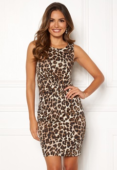Chiara Forthi Marjorie Sleeveless Dress Leopard Bubbleroom.eu