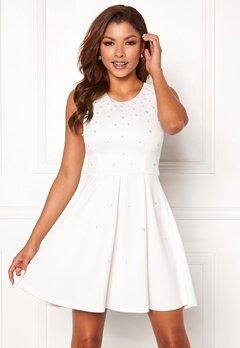 Chiara Forthi Marla pearl dress White Bubbleroom.eu