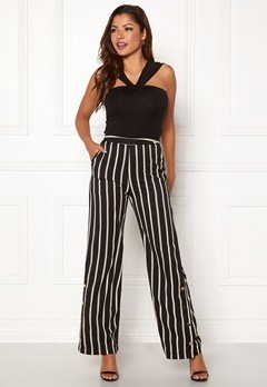 Chiara Forthi Martirir buttoned wide pants Black / Striped Bubbleroom.eu