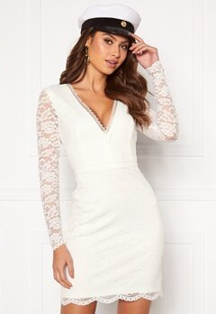 Chiara Forthi Mathilde lace dress White Bubbleroom.eu