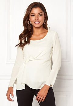 Chiara Forthi May draped top Winter white Bubbleroom.eu