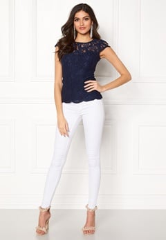 Chiara Forthi Michelle Lace Top Navy Bubbleroom.eu