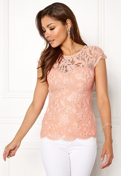 Chiara Forthi Michelle Lace Top Old rose Bubbleroom.eu
