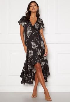 Chiara Forthi Nadine wrap flounce dress Black / Patterned Bubbleroom.eu