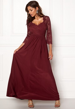 Chiara Forthi Nathalia Maxi Dress Wine-red Bubbleroom.eu