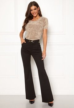 Chiara Forthi Nicola boot cut pants Black Bubbleroom.eu