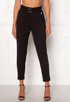 Chiara Forthi Paperbag Belt Pantaloni Black Bubbleroom.eu