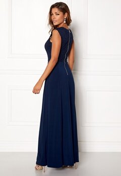 Chiara Forthi Piubella Maxi Dress Midnight blue Bubbleroom.eu