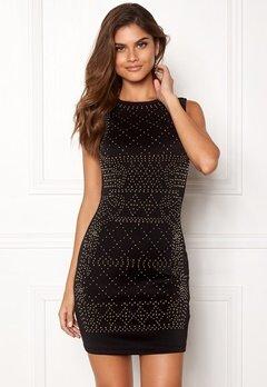 Chiara Forthi Portia studded dress Black / Gold Bubbleroom.eu
