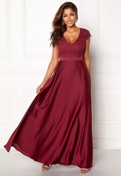 Chiara Forthi Princess Gown Bordeaux Bubbleroom.eu