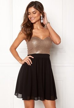 Chiara Forthi Reese sequin dress Black / Rose gold Bubbleroom.eu
