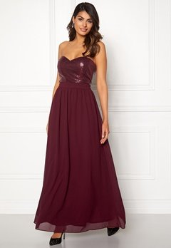 Chiara Forthi Reese sequin gown Wine-red Bubbleroom.eu
