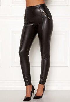 Chiara Forthi Rivalta faux leather pants Black Bubbleroom.eu