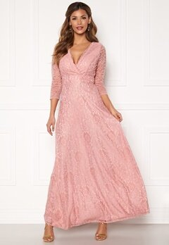 Chiara Forthi Riveria Lace Gown Dusty pink Bubbleroom.eu