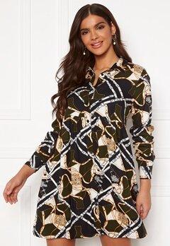 Chiara Forthi Sandrine Shirt Dress Khaki green / Patterned Bubbleroom.eu